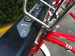 Bikes are numbered