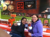 Try coffee at Triana, it's great!