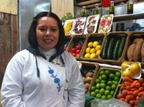 She supplies the veggies to the Green Corner