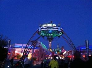Tomorrowland is beautiful at night!!