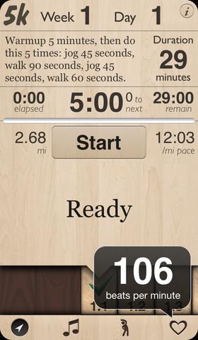 Run 5K Interval Training App